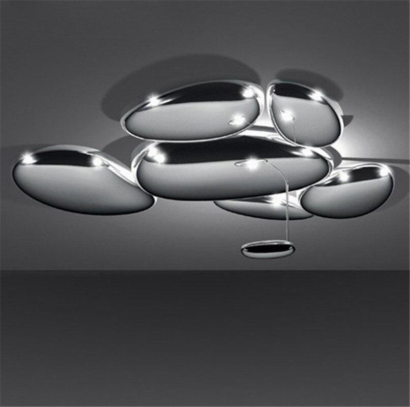 DIY светодио дный светодиодный Меркурий потолочный светильник роскошный Skydro потолочный светильник пост современный Lmininaire покрытый хромиро...