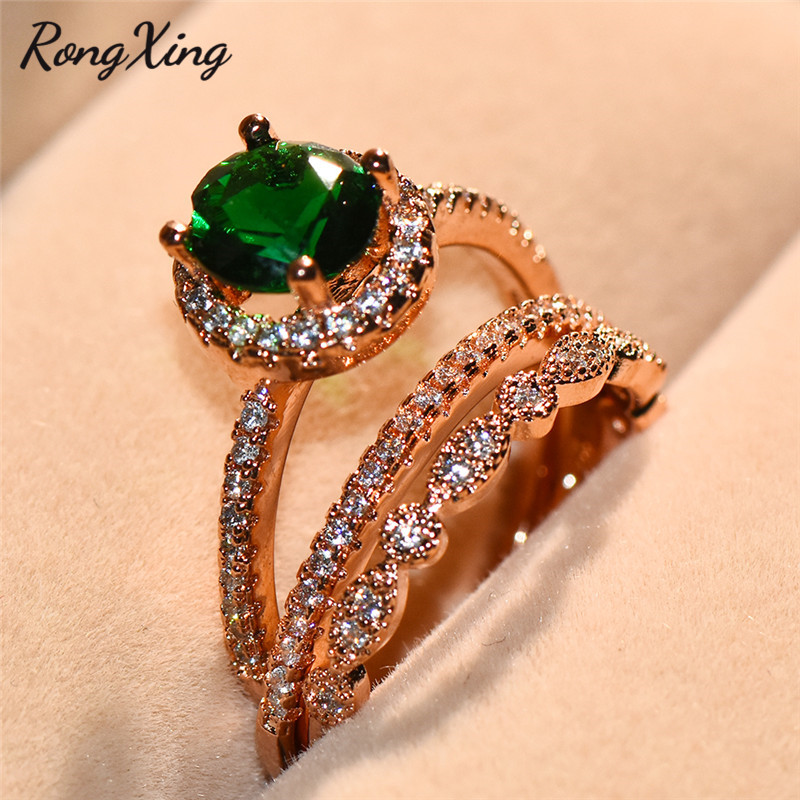 Jewelry Sets Fashion Jewelry Premium Elegant Jewelry Gift White Gold Filled Plated Ruby Emerald Ring Sz Us 9 Packing Of Nominated Brand
