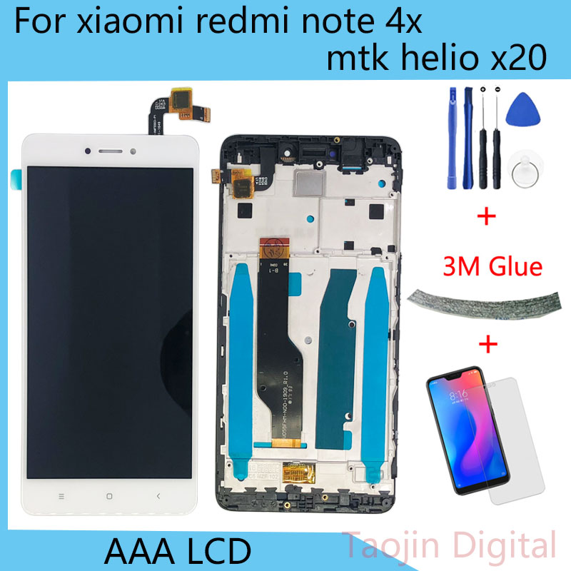 LCD Display For Xiaomi Redmi Note 4X  Touch Screen Digitizer Assembly Frame With Free Tools