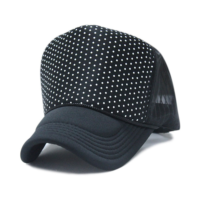 29f5bb2a945 high top fashion dot hip-hop street dancing mesh hat baseball cap female male  summer sunhat truck mesh hat hip hop cap hat
