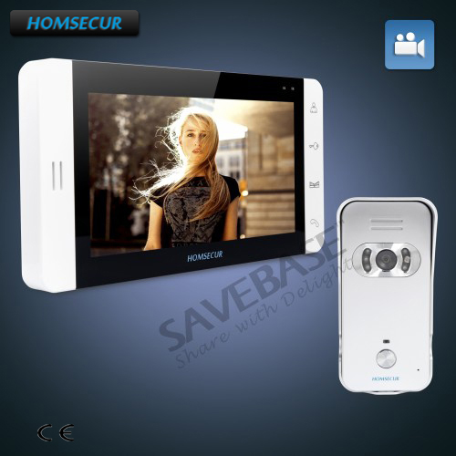 HOMSECUR Hand-fee 7 Video Door Entry Security Intercom with Outstanding Video&Audio Performance+Russian Delivery