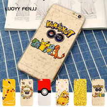 LUOYY FENJJ Pokemons Case For iPhone 6 6s Plus 5 5s SE Back Cover Soft Silicone TPU Cartoo 7 8 X 10 Coque