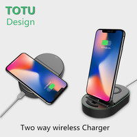 TOTU Qi Two Way Wireless Charger For Iphone X 8 Plus 8 Samsung Note 8 S8