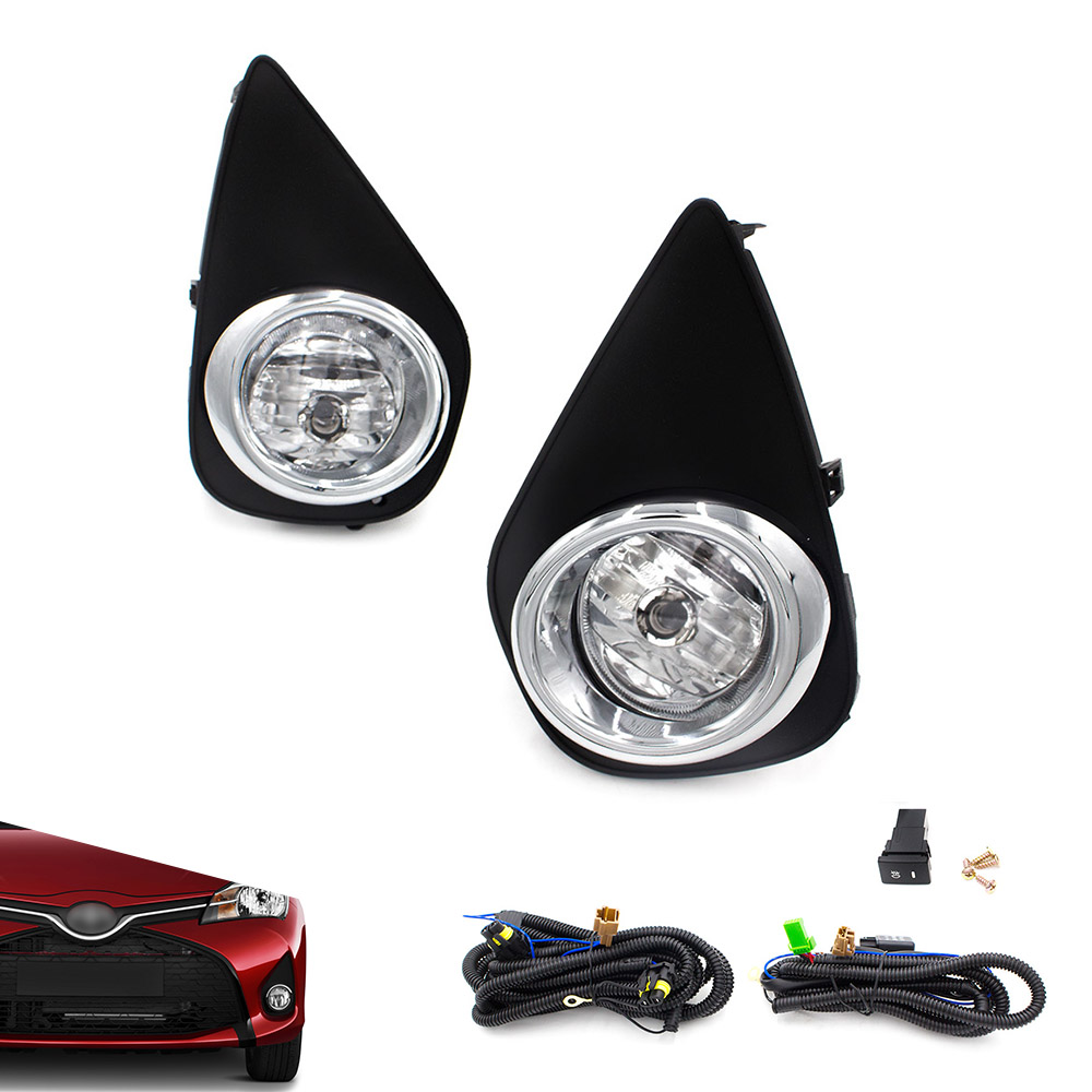 купить CNSPEED Fog light for 2015-2016 Toyota Yaris Hatchback 2/4Dr Clear Fog Lights Driving Lamps+Switch Driving Lamps TT101064-CL онлайн