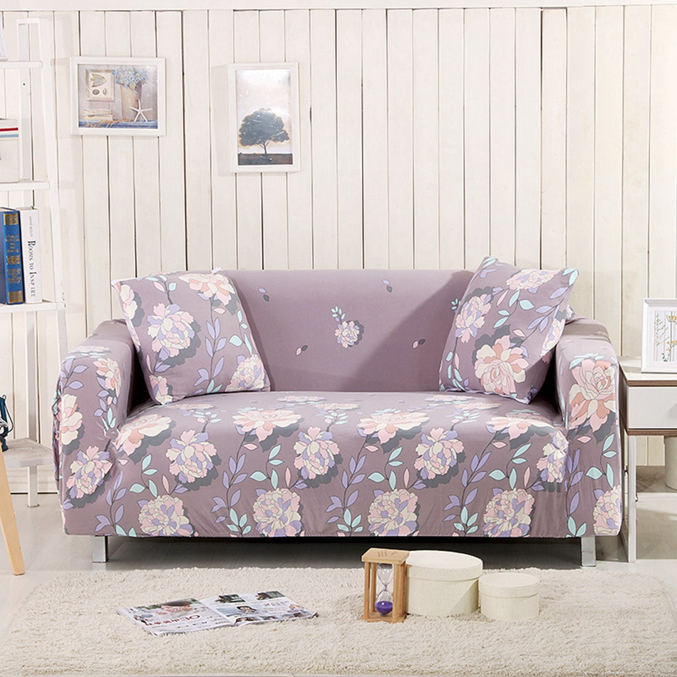 Flowers Couch Sofa Covers 100% Polyester Pastoral Sofa