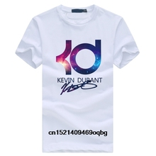 9a1b75885 Kevin Durant KD letter print clothing hiphop tops black t-shirt jersey homme  fitness