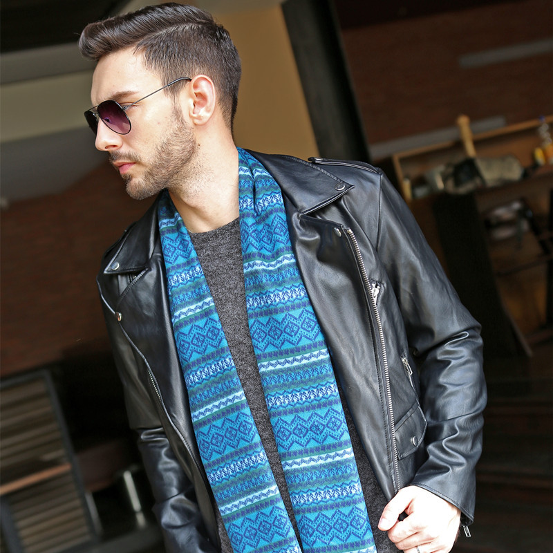 Fashion England Style Cotton Bufandas Cachecol Men Winter Casual font b Tartan b font Jacquard Scarfs