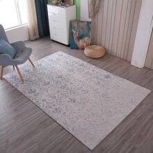 Alfombra Vintage desgastada y elegante, alfombra de suelo artístico abstracto antideslizante, mesita para café de sala de estar, alfombra de dormitorio, cama, manta gruesa