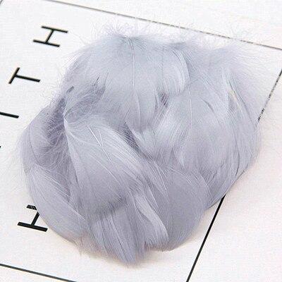Натуральные перья лебедя 4-7 см 1-2 дюйма маленькие плавающие Шлейфы гусиное перо цветной шлейф для украшения рукоделия 100 шт - Цвет: gray 100pcs