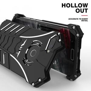 Image 4 - יוקרה באטמן Kickstand עמיד הלם מקרה עבור Huawei Honor 10 לייט אלומיניום פגוש עור שריון מתכת כריכה אחורית