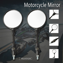 Motorcycle 10mm Round Motorbike Moped Scooters Racer Rearview Back Side View Mirror for honda Kawasaki Suzuki Ducati