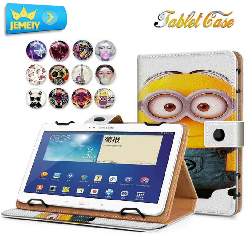 10.1inch Leather Universal tablet case For samsung galaxy Tab 2 10.1 P5100 Cover Printed Stand case pu leather stand cover case universal 7 0 inch tablet for samsung galaxy tab 2 tab3 t110 t111 t230 t210 for kids gift kf469d