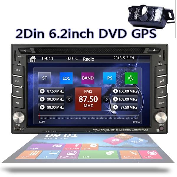 In-dash Double 2DIN 6.2'' Car Stereo NAVI Player HD TouchScreen GPS Navigation DVD Player built-in Bluetooth+Free raer CAMERA аксессуар lowepro 5 0 navi dash black