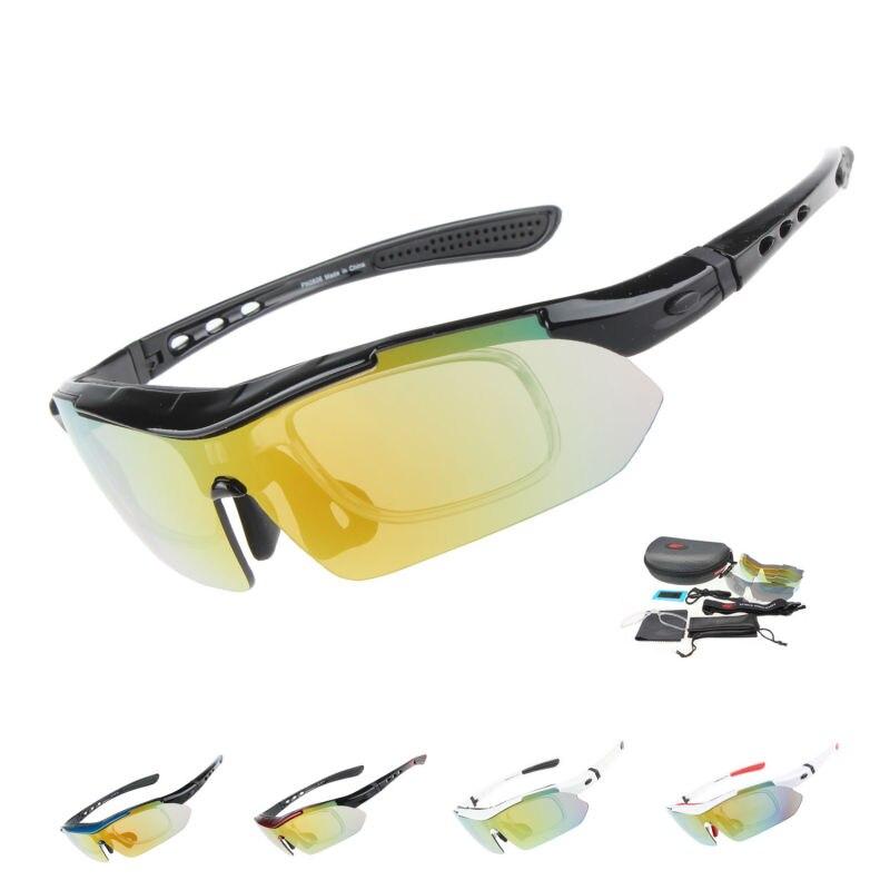 Prix pour COMAXSUN Professionnel Polarisé Vélo Lunettes de Vélo Lunettes Sports de Plein Air Vélo lunettes de Soleil UV 400 Avec 5 Lentille TR90 5 couleur