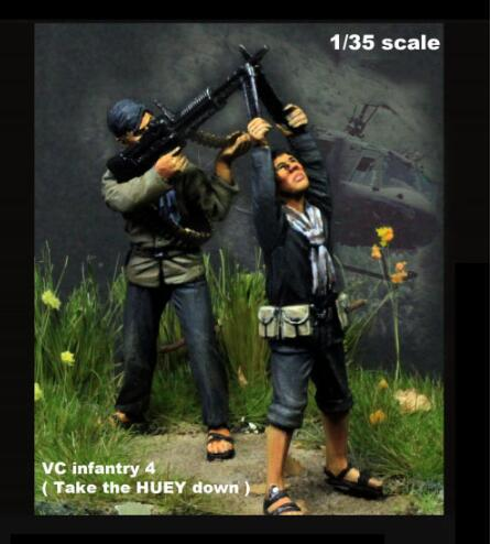 1/35 Infantry Take The Huey Down Soldier   Resin Figure Model Kits Miniature Gk Unassembly Unpainted