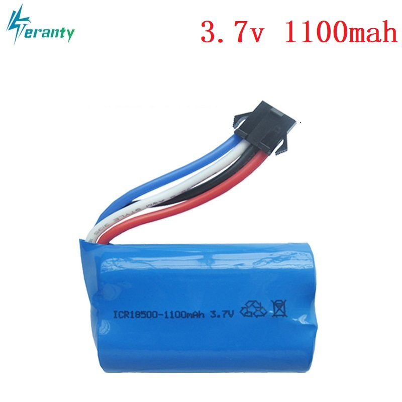 3,7 V 1100mAh 18500 15c Lipo batería para UDI 001 UDI001 HQ HuanQi 960 2,4G control remoto barco lancha 3,7 v RC batería LIPO