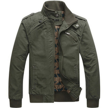 Casual cotton washed Army Military Outdoors Stand collar Outerwear jaqueta masculina