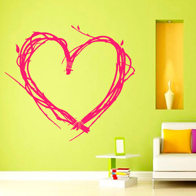 Valentine\'S Day Wall Stickers Tree Twigs Heart Shaped Home Decor ...