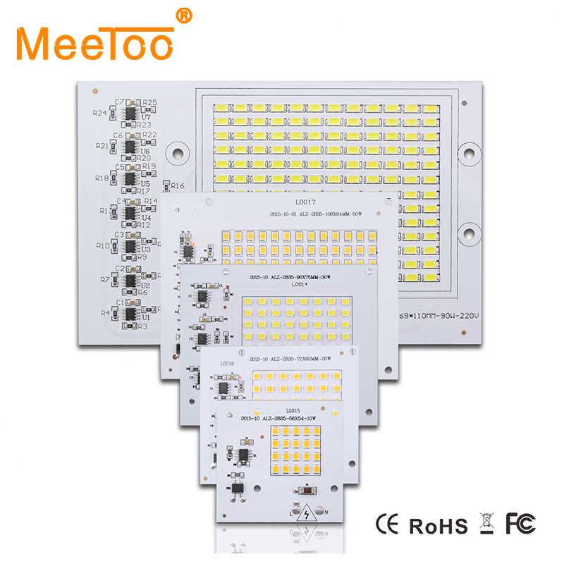 COB LED Lamp Chip 20W 30W 50W 70W 90W 100W 150W LED COB Bulb Lamp 220V Smart IC Cold Warm White LED Spotlight Floodlight Chip