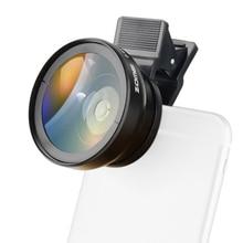 ZOMEI cep telefonu kamera makro Lens 37mm 0.45X geniş açı klip evrensel cep telefonu iphone 7/7s Samsung Android ios