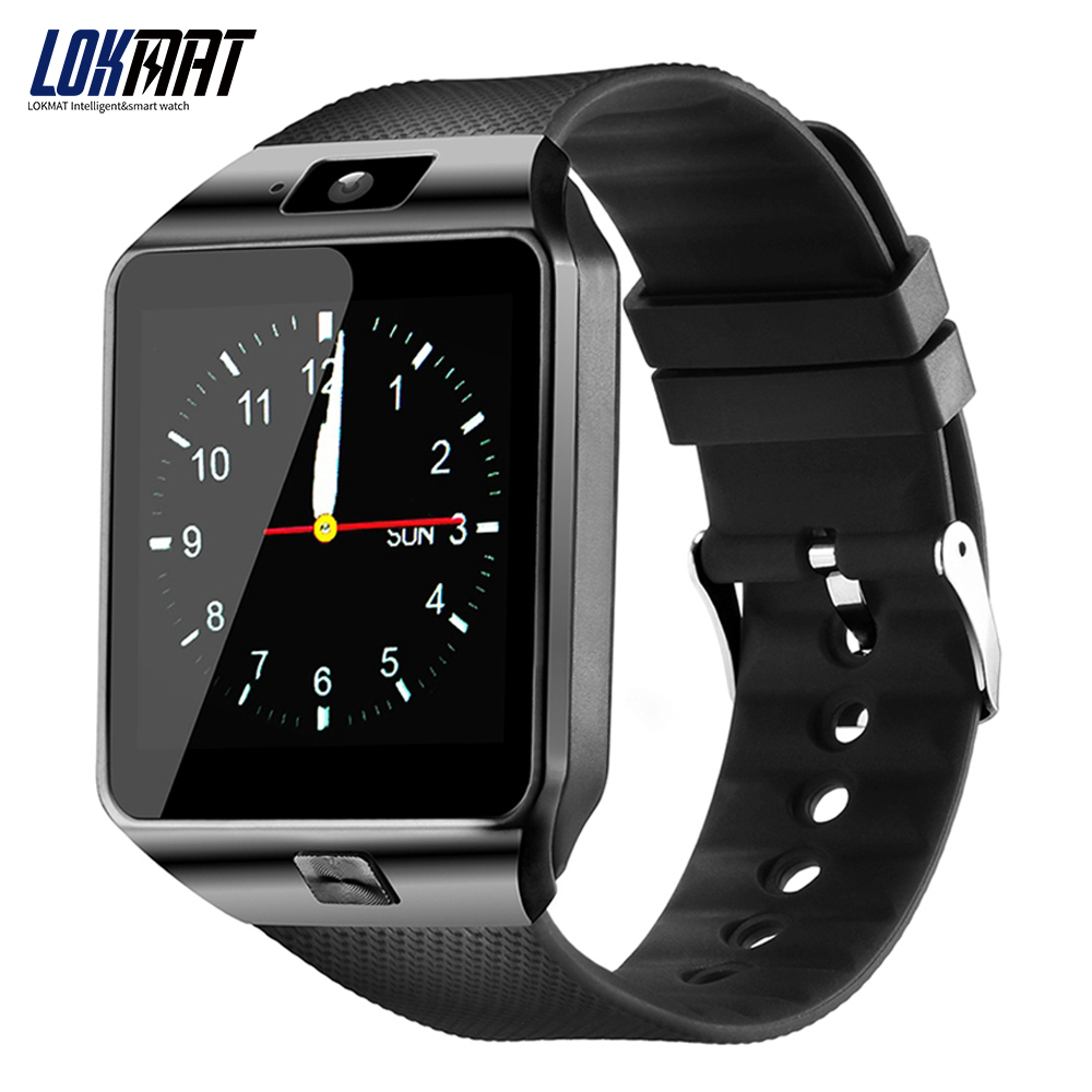 LOKMAT DZ09 Bluetooth Smart Watch Android Phone Relogio support SIM TF Card Camera Smartwatch for iPhone PK GT08 bluetooth smart watch q18 smartwatch support nfc sim card gsm camera for android ios smart clock watch phone pk gt08 dz09