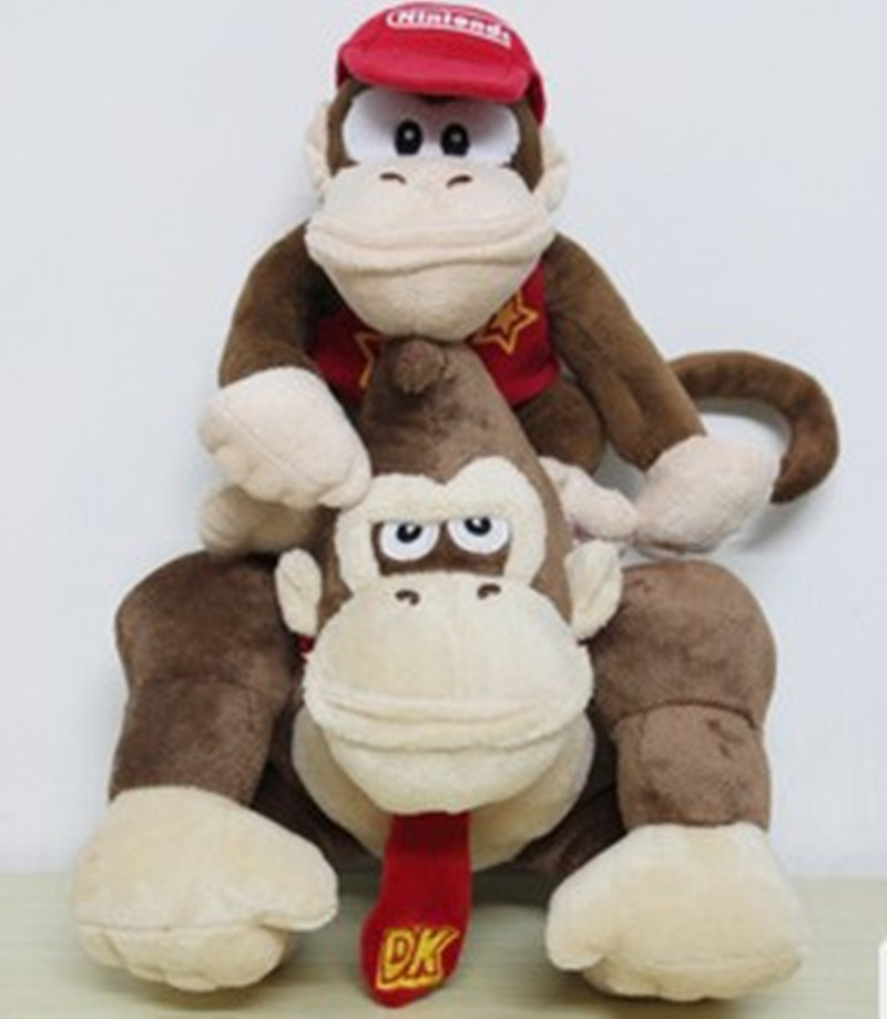 Super Mario Plush Toys Cartoon stuffed Animals doll Monkeys and Donkey Kong For kids Best Christmas birthday gifts 2pcs/set футболка print bar bane atropos
