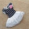 Девочки лето платье в горошек горох принцесса платье дети в одежда дети велюр платье сетчатая ткань платье Vestido де феста