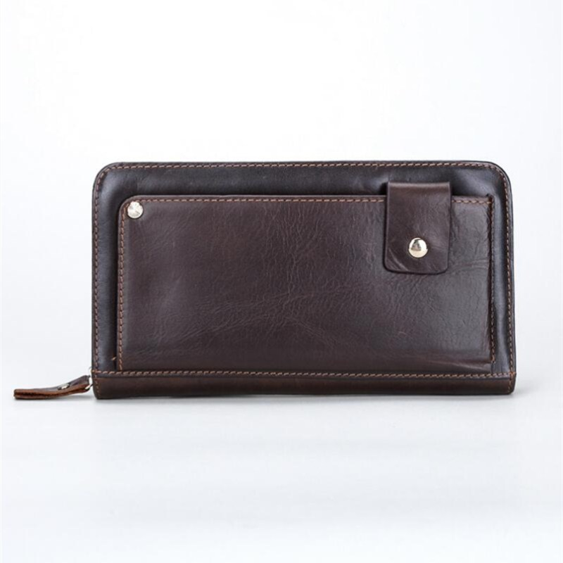 Double Zipper Men Clutch Bags PU Men's Leather Wallet Men Handy Bag Male Long Wallets Man Purses double zipper men clutch bags high quality pu leather wallet man new brand wallets male long wallets purses carteira masculina