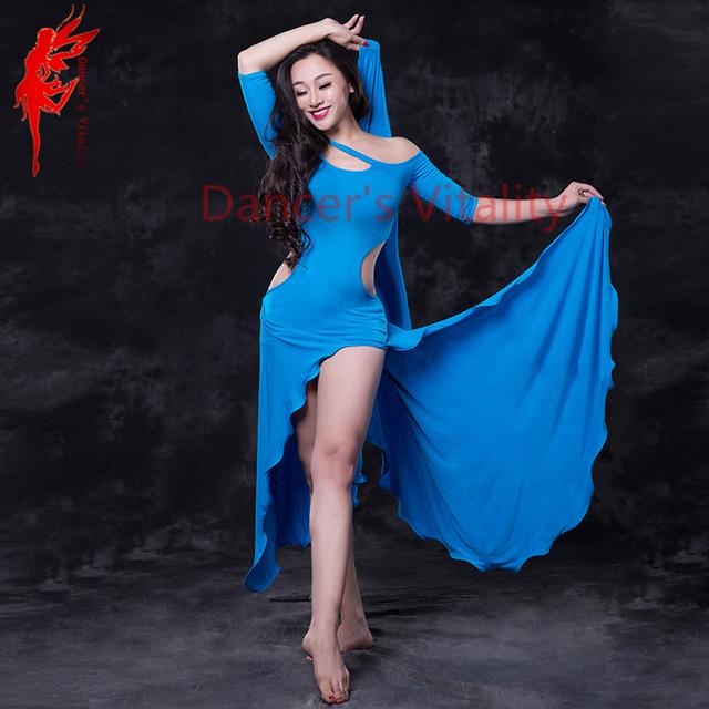 Modal Performance belly dance set elegant half sleeves belly dancing dress girls belly dance dresses  Comfortable costumes