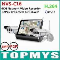 Vstarcam NVS C16 720P HD Wifi Network Video Record With 2PCS C7816WIP 1 0MP H 264
