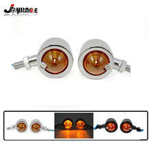 Classic Universal Motorcycle Turn Signal Lights Rear Indicators Yellow Lightings Bulb Light