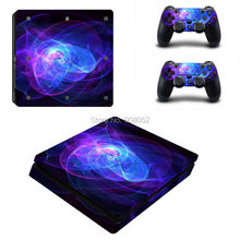 Decal Skin For Ps4 Slim Console Cover For Playstaion 4 Slim Console Skin Stickers+ 2Pcs Controller Protective Skins Accessory