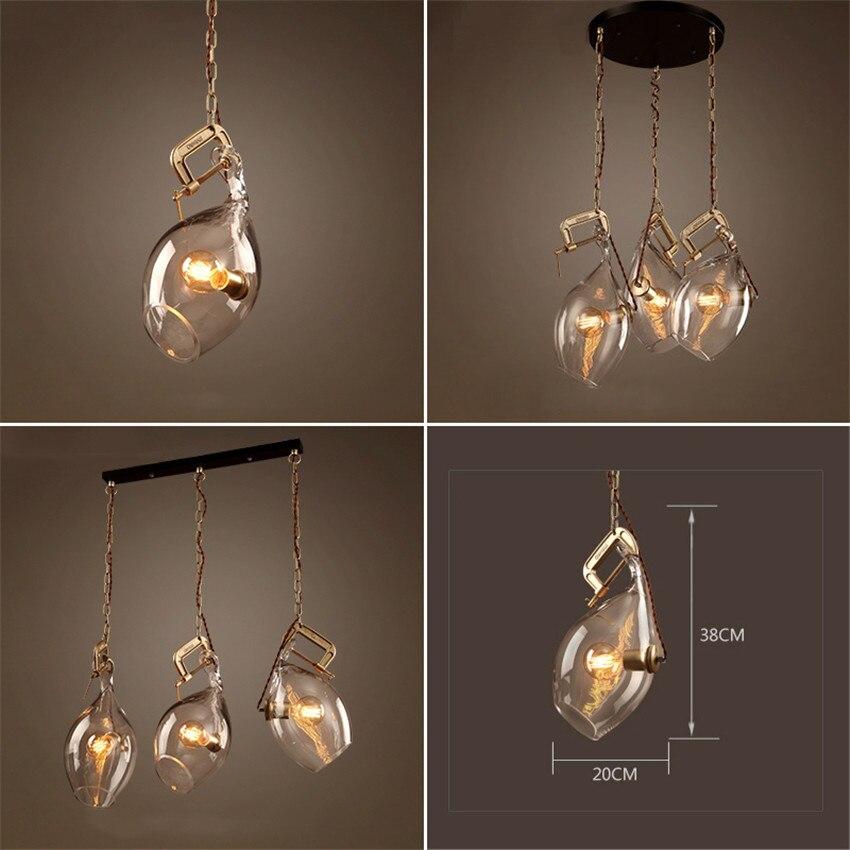 Aliexpress Loft Stil Vintage Kreative Glas Fisch Mund Design Lampe Pendelleuchte Retro Wohnzimmer Anhnger Lightsluminaire Suspendu Von