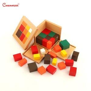 Image 3 - Aritmetica Trinomial Cubo Giocattoli di Legno Montessori Materiale Didattico Studente Scatola di Blocchi di Legno Per Bambini Giocattoli di Matematica Per Bambini