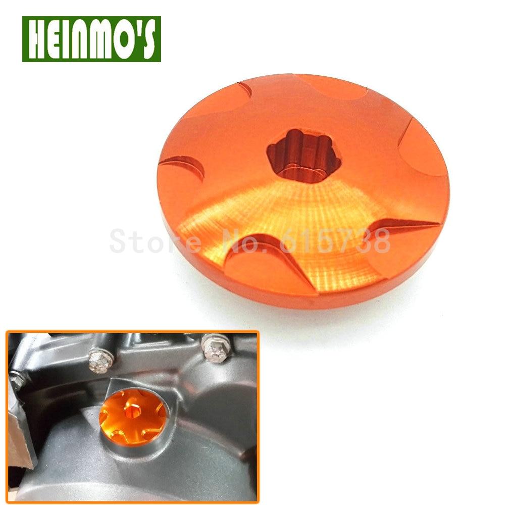 Motorbike Orange Aluminum Engine Cover Camshaft Plug For KTM DUKE 390 2013-2017 RC 390 2014-2017 motorcycle front rider seat leather cover for ktm 125 200 390 duke