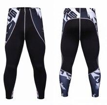 Модные Мужские Сжатия Брюки Малоэтажных Штаны Упругие Полиэстер Колготки Мужчины Черные Узкие Брюки Mallas Hombre Спортивные Штаны