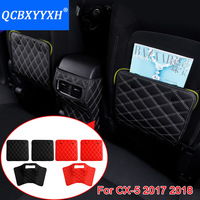 3pcs PU Car Interior Seat Protector Side Edge Protection Pad For Mazda CX 5 2017 2018