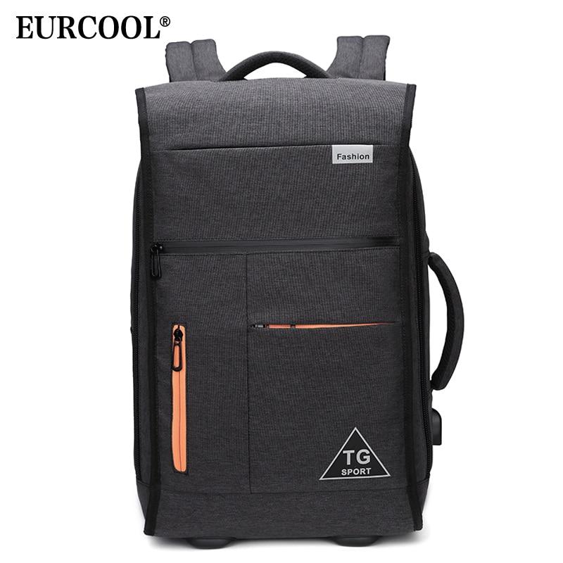 EURCOOL Functional Backpack Waterproof USB Design Rucksack Men Short Trip Travel Laptop Backpacks n1777EURCOOL Functional Backpack Waterproof USB Design Rucksack Men Short Trip Travel Laptop Backpacks n1777