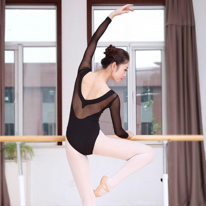 Sexy Black Ballet for Women Pure Cotton Black Ballet Dancewear Adult Gymnastics Leotard Dance Practice Clothing Dancewear 89