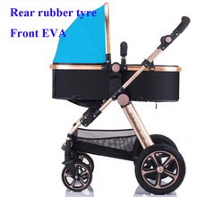 9 Colors Lightweight aluminum alloy Luxury Baby Stroller High Landscape Sit and Lie Baby Carriage For Newborn Infant