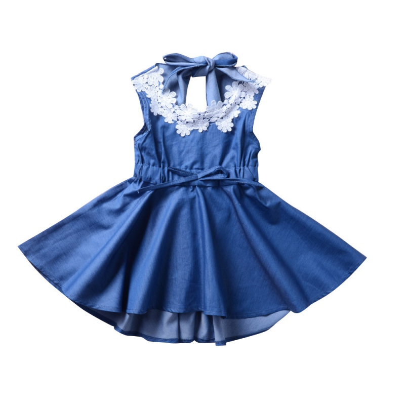 2018 Summer Hot Sale Baby Girls Casual Dress Kids Sleeveless Backless Princess Dresses New-arrival Fashion Clothing For 2-6Y LQ