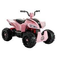 Uenjoy ATV для детей 4 Wheeler Quad 12 В батарея мощность Электрический езды на автомобиле с колесами подвеска, 2 скорости светодиодный светодиодные фон