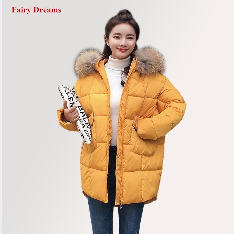 Chaqueta 2018 Grueso Negro Abrigo Invierno amarillo Faux Para De multiple  Blanco Amarillo Collar blanco Parka Hecha Plumas Ganso Negro Fur Mujer  qnaxqrWT5S 7734d0f0ea65
