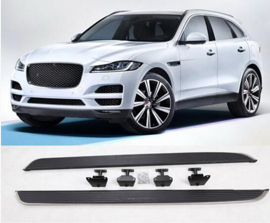 JIOYNG Aluminum Alloy + ABS Car Running Board Side Step Nerf Bar Guard Fits For JAGUAR F-PACE 2016 2017 2018
