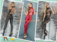2017 Sexy Lingerie Lady Leather Costume PVC Jumpsuit Sexy Latex Catsuit Sexy Game Bodysuit Clubwear Lace Jumpsuit Crotch Zipper