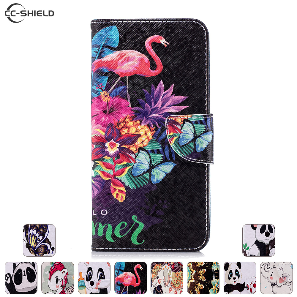 Flip Case For Huawei Nova 2i 2 I RNE-L21 RNE-L01 SNE-L03 Case Painted Phone Leather Cover For Huawei Nova2i SNE L03 L21 Cases