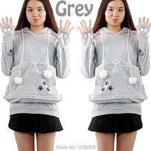 Cat bolsa dog pet hoodies camisolas do hoodie com carinho para casual canguru capuz com orelhas(China (Mainland))