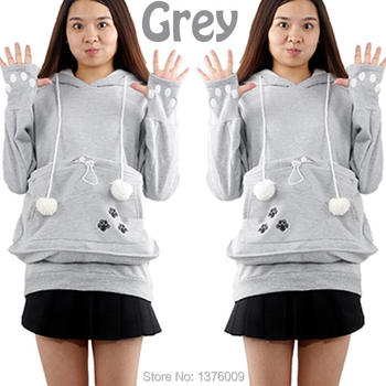 Cat Hoodie Sweatshirts With Cuddle Pouch Dog Pet Hoodies For Casual Kangaroo Pullovers With Ears