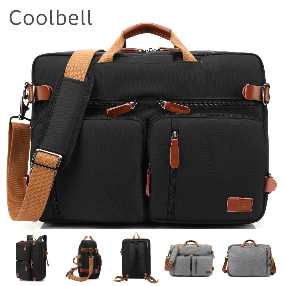 """2018 Coolbell Brand Messenger Backpack For Laptop 15"""",15.6"""",17"""",17.1"""",17.3"""" Notebook Bag, Packsack, Free Drop Shipping 5005"""