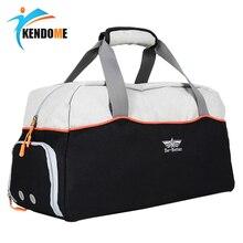 Hot Large Multi-function Sports Gym Bag With Shoes Pocket Men Training Shoulder Bag Women Fitness Outdoor Travel Handbag недорого